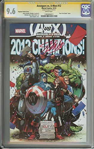 AVENGERS VS. X-MEN #12 CGC 9.6 WHITE PAGES// SIGNED BY STAN LEE // STEGMAN VARIANT ...