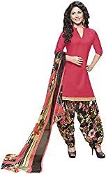 K.K BROTHERS Women's Satin Dress Material (Red)