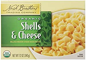 Nash Brothers Trading Organic Pasta, Shells and Cheese, 12 Ounce
