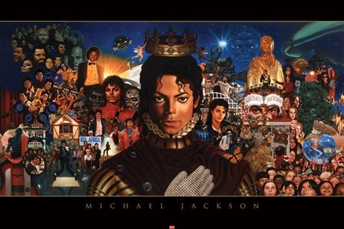 Michael Jackson Collage Music Poster Print - 22x34