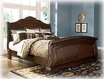 Big Sale Old World California King Sleigh Bed in Dark Casual Finish