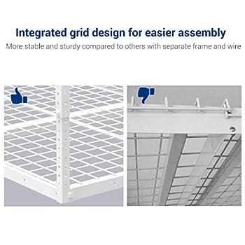 FLEXIMOUNTS 4x6 Heavy Duty Overhead Garage Adjustable Ceiling Storage Rack, 72