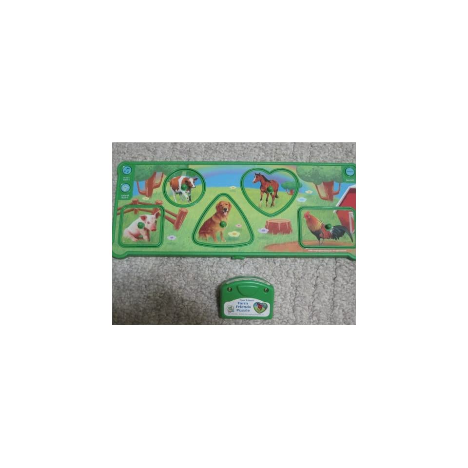 Press & Learn Farm Friends Puzzle Leap Frog Baby