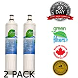 WQA Cetrtified - Swift Green Filters- SGF-W80 2 Pack Replacement for KitchenAid 4396508 Refrigerator Water Filter