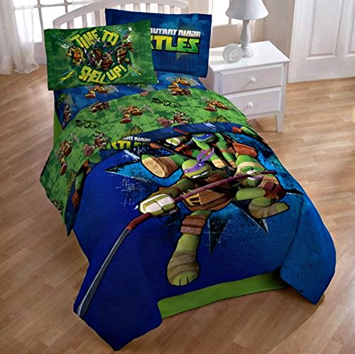 Teenage Mutant Ninja Turtle Full Sheet Set and Comforter (5 Piece Bedding Collection) promotion 6pcs baby bedding set cot crib bedding set baby bed baby cot sets include 4bumpers sheet pillow