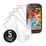 MPERO Collection 5 Pack of Clear Screen Protectors for Samsung Galaxy Light T399