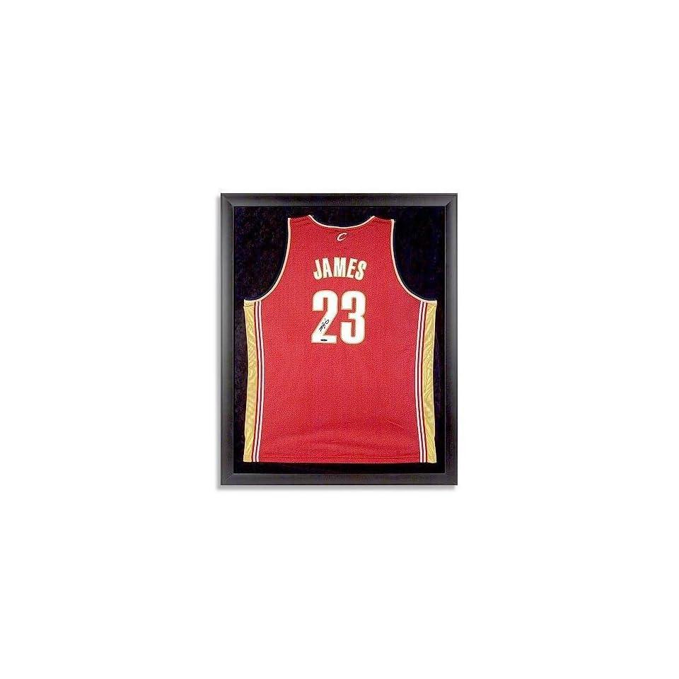 97f0ea42b1cb LeBron James Autographed Cavs Away Jersey Framed UDA on PopScreen