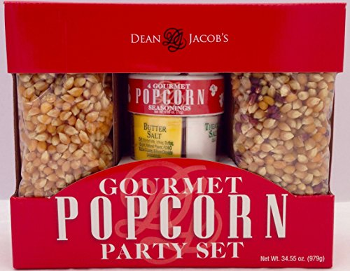 Popcorn and Salt Seasonings Gourmet Party Set for Hot Air Poppers and Stovetop (Gourmet Stove compare prices)