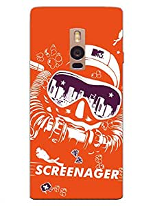 Designer Printed Phone Cover for OnePlus Two - MTV Gone Case - Screenager - Orange - Hard Back Shell Cover - By MTV India