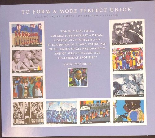 To Form a More Perfect Union Sheet of 10 37 Cent Stamps Scott 3937