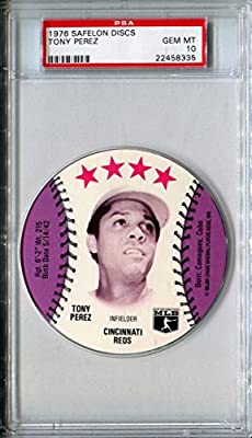 1976 MSA Safelon Sports Discs TONY PEREZ Rare PSA Gem Mint 10 HOF SP Cincinnati Reds / Boston Red Sox