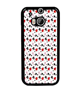 PrintDhaba Pattern D-5911 Back Case Cover for HTC ONE M8 EYE (Multi-Coloured)