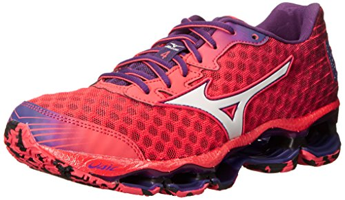 Mizuno Women's Wave Prophecy 4 Running Shoe, Cayenne/White/Pansy, 6 B US (Mizuno Running Shoes Prophecy compare prices)