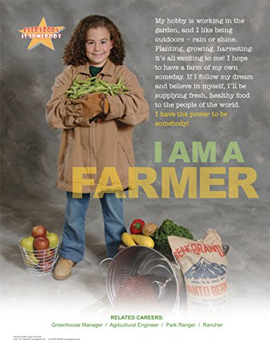 I Am a Farmer Laminated Poster For Elementary and Middle School Student Career Education Featuring a Agricultural Theme