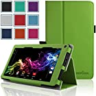 RCA 7 Voyager Case - HOTCOOL Slim Classic PU Leather Folio Case For RCA 7 Voyager Tablet 8GB Quad Core Tablet, Green