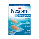Nexcare Waterproof Clear Bandage Assorted Sizes, 50-Count Packages (Pack of 4) ~ Nexcare