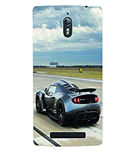 Fuson 3D Printed Car Designer Back Case Cover for Oppo Find 7 - D665