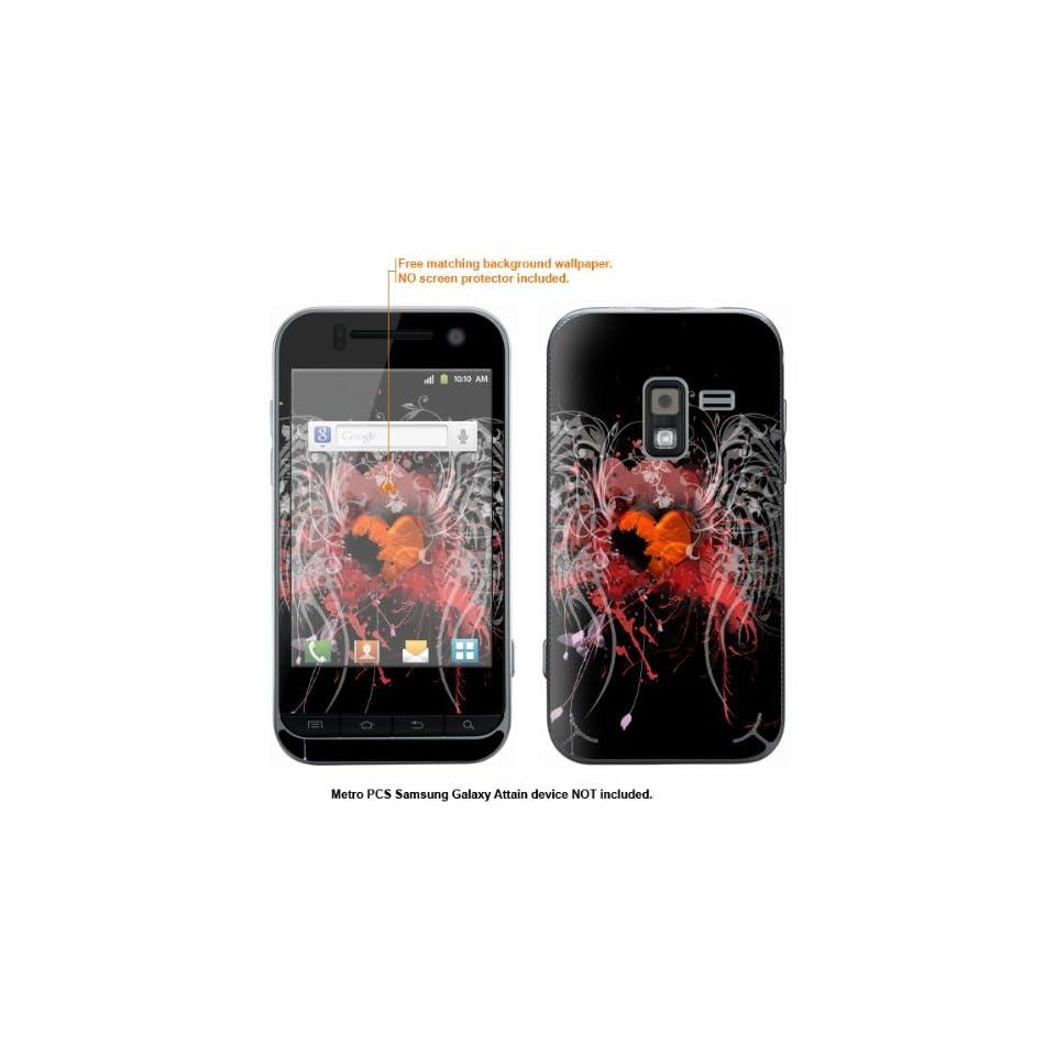 Protective Decal Skin Sticker for Metro PCS Samsung Galaxy Attain 4G case cover Attain 518