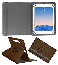 Acm Designer Rotating Case For Apple Ipad Air 2 Stand Cover Brown