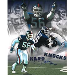 Buy Lawrence Taylor signed New York Giants 16X20 Photo HOF 99 (Hard Knocks Collage)- JSA Hologram by Athlon Sports Collectibles