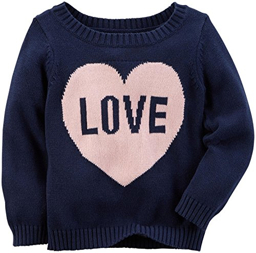 Carter's Baby Girls Sweater 235g548, Navy, 18M