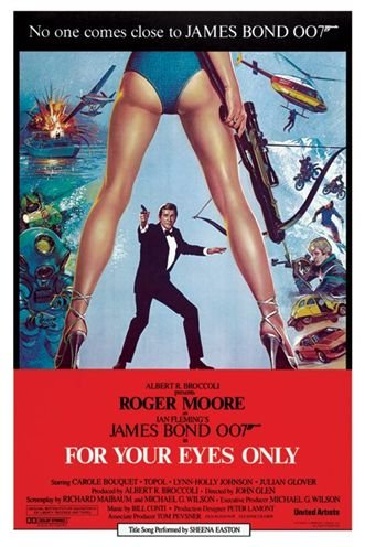 ジェームズ・ボンド 007 ユア・アイズ・オンリー  ポスター James Bond (For Your Eyes Only)