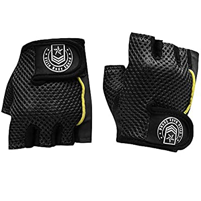 Weight Lifting Gloves - Top Quality Women's Gym Gloves - Double Stitched Gym Wear For Strength + Easy Breathe Lycra Mesh On Back Of Hand - Quick Fasten Finger Tab To Tighten & Remove Gloves Easily + 100% Quality Satisfaction Guaranteed by Elite Body Squad