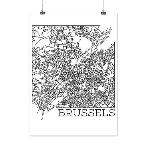 belgium-brussels-map-big-town-matte-glossy-poster-a3-42cm-x-30cm-wellcoda