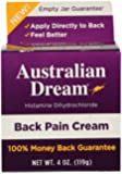 Australian Dream Back Pain Cream, 4 Ounce