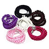 Fashion Dimensions 24pc Multicolor Crochet Crinkle Scrunchies