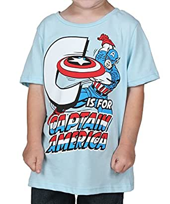Amazon Toddler C is for Captain America T Shirt Clothing