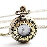 Boshiya Roman Number Retro Design Yellow Bronze Watch