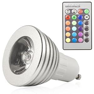 3w gu10 16 farbwechsel rgb led spot licht light lampe ir fernbedienung ld129 beleuchtung. Black Bedroom Furniture Sets. Home Design Ideas
