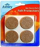 Ashley - Set di 8 protezioni in feltro per piedi di divani, sedie, tavole e sgabelli Diametro: 38 mm