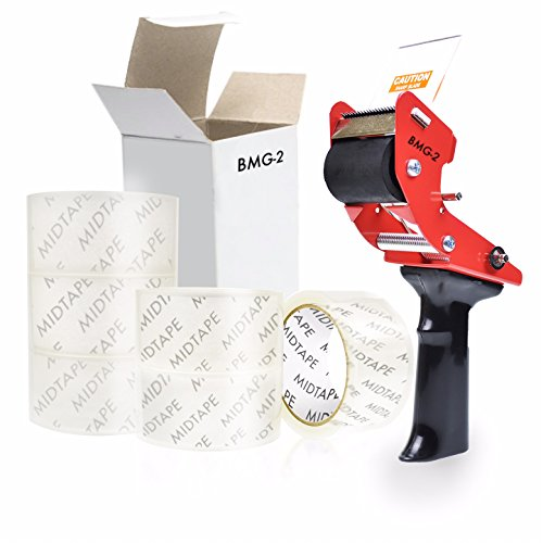Tape Gun and Packing Tape Value Bundle. Comes with 1 Tape Gun and 6 Rolls of Packing Tape.