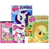 My Little Pony Coloring Books , Stickers , and Crayola Crayons Set ~ Two Coloring Books Plus Over 300 Stickers and 24 Crayola Crayons ~ Rainbow Dash , Applejack , Princess Celestia , Pinkie Pie Model: