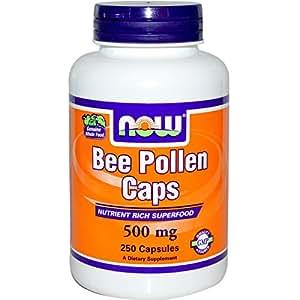 Amazon.com: NOW Foods Bee Pollen Caps -- 500 mg - 250