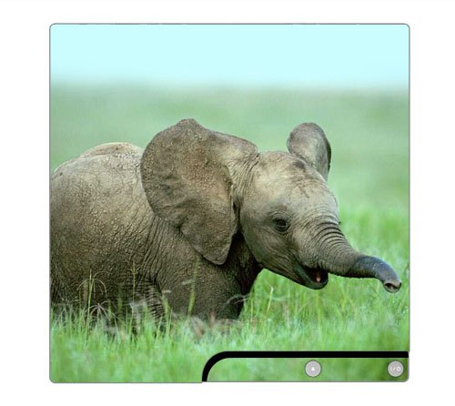 Baby Elephant Decorative Protector Skin Decal Sticker for PlayStation 3 PS3 SLIM Console