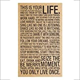 Vovotrade Vintage Retro Imprimer Carte Craft Papier Antique Poster Wall Sticker Décoration murale (B)...