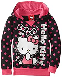 Hello Kitty Little Girls\' Character Hoodie, Anthracite, 6