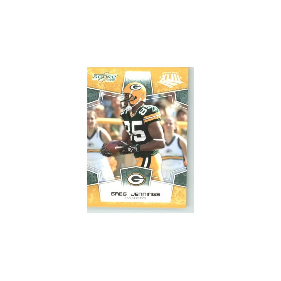 2008 Donruss / Score Limited Edition Super Bowl XLIII Gold Border # 108 Greg Jennings   Green Bay Packers   NFL Trading Card in a Prorective Screw Down Display Case