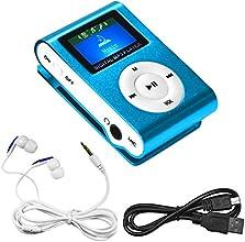 Swees® MINI LECTEUR MP3 ECRAN LCD 8 GO avec Radio FM Bleu
