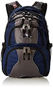 High Sierra Swerve Backpack, True Navy/Charcoal/Black, 19 x 13 x 7.75-Inch