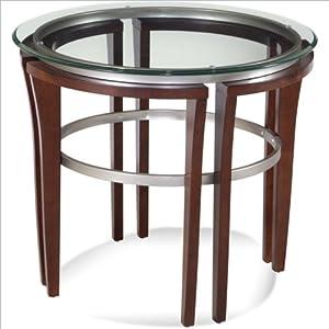 Bassett Mirror Fusion Round Glass Top End