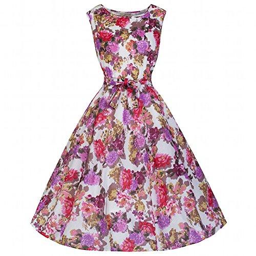 Pretty Kitty Fashion 50s Cotton Floral Swing Dress