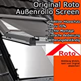 Original Roto Außenrollo Screen ZAR, Rollo für Fenstertyp R75 / R78 , Fenstergröße 6/11 , WDF KAW HAN KEW