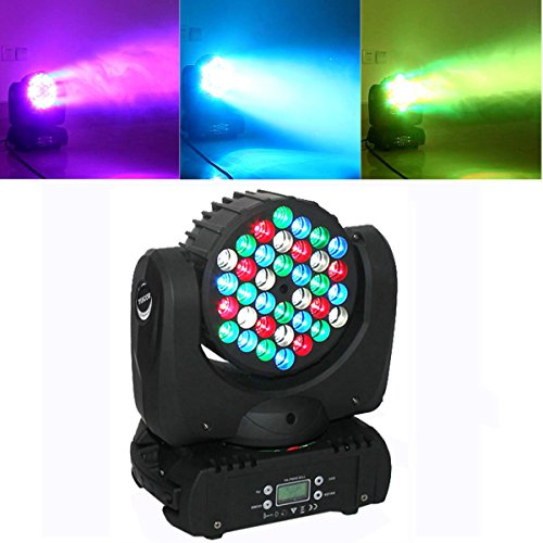 Yiscortm Stage Lighting Led Par Light Spot Beam 108W 36Leds Rgbw (4In1) Dmx512 Moving Head For Home Garden Xmas Christmas Birthday Party Dj Disco Club Effect