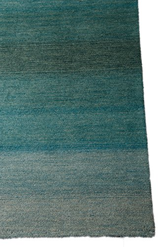 Calvin Klein Home GLO01 CK206 Linear Glow Rectangle Handmade Rug, 2.3 by 7.6-Inch, Aqua