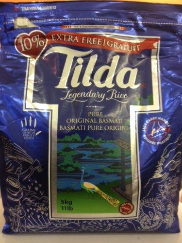 Tilda Pure Original Basmati Rice 11 Lb Bag NET Wt 11 Lbs (5 Kg)