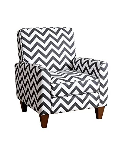 Abbyson Living Mila Chevron Armchair, Black